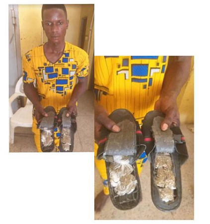 Verified Man arrested for using sandals to smuggle cannabis into Abuja prison