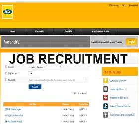 Apply for MTN Fresh Recruitment 2019 (At MTN Portal)