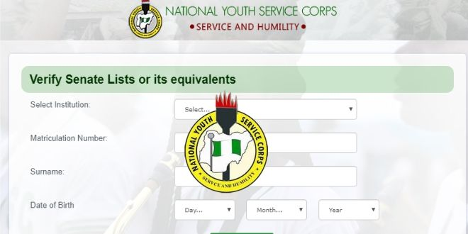 NYSC Registration 2020 Batch B Commence (NYSC Open Portal)