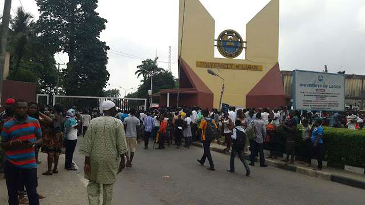 Tension In UNILAG As Armed Bouncers Surround Senate Building