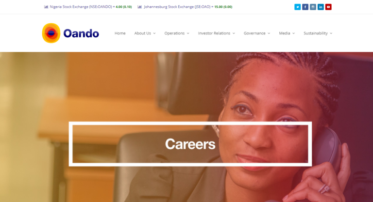 Oando Recruitment 2019 Application Procedure