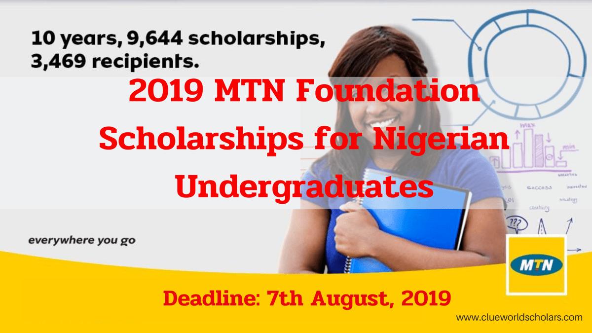MTN Foundation Scholarship For Nigeria Undergraduates