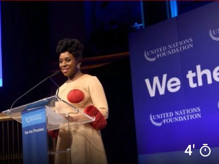 Chimamanda Ngozi Adichie Receives UN Global Leadership Award