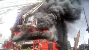 Just in: Fire Guts CBN Office - Photos