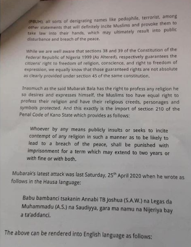 Mubarak Bala Arrested for Allegedly 'Insulting Prophet Muhammad'