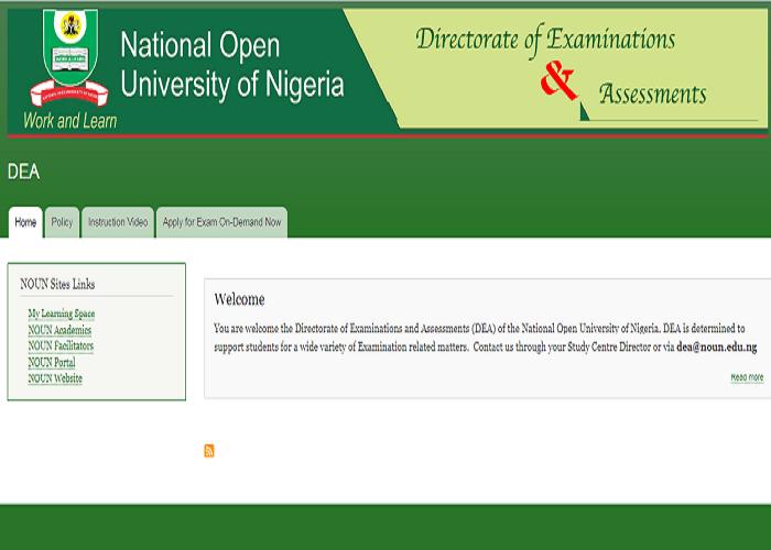 Noun Exam Portal (dea.nou.edu.ng) DEA Exam Website