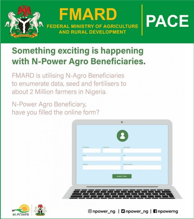 Credit Alerts for Enumerators is in Two Tranches/Registration Still On-FMARDSPACE