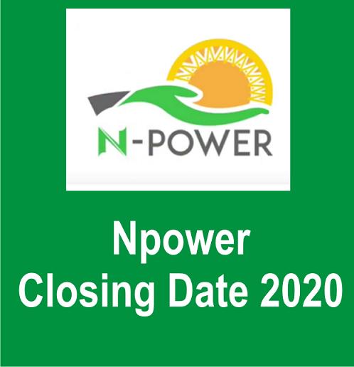 Npower Closing Date 2020 (Registration Deadline for Batch C)