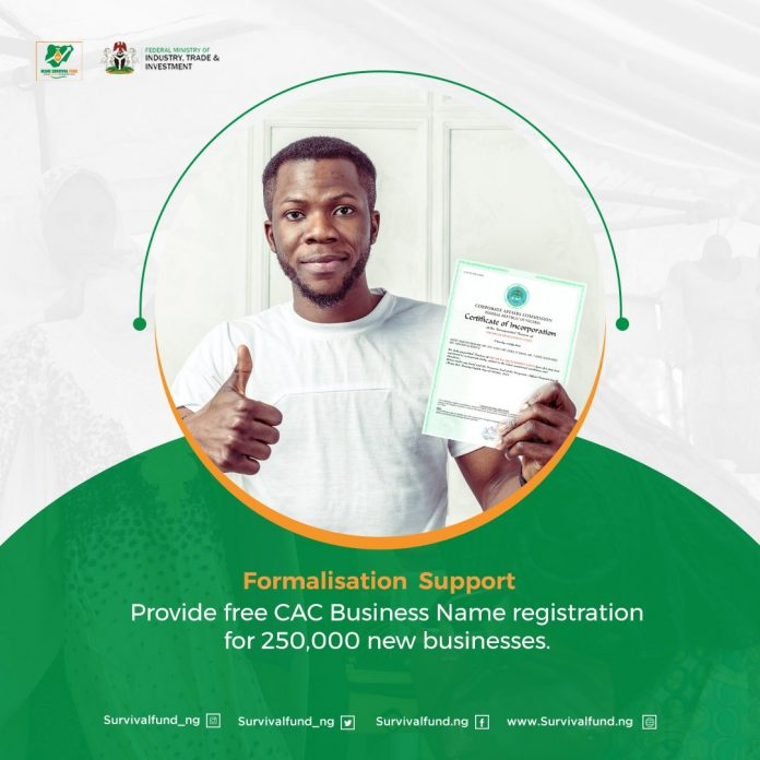Formalisation Support: FG to Give FREE CAC Business Name Registration (See how to Apply)