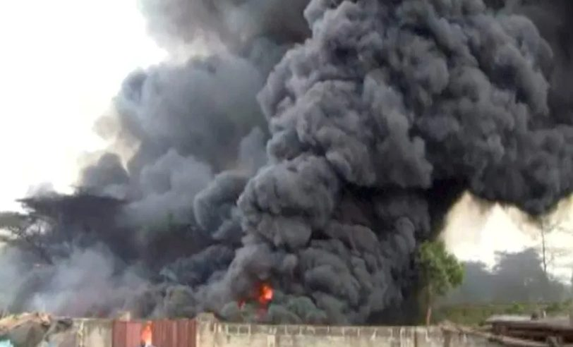 Breaking: Gas Station Explodes in Ipaja, Lagos Lost Valuable Properties