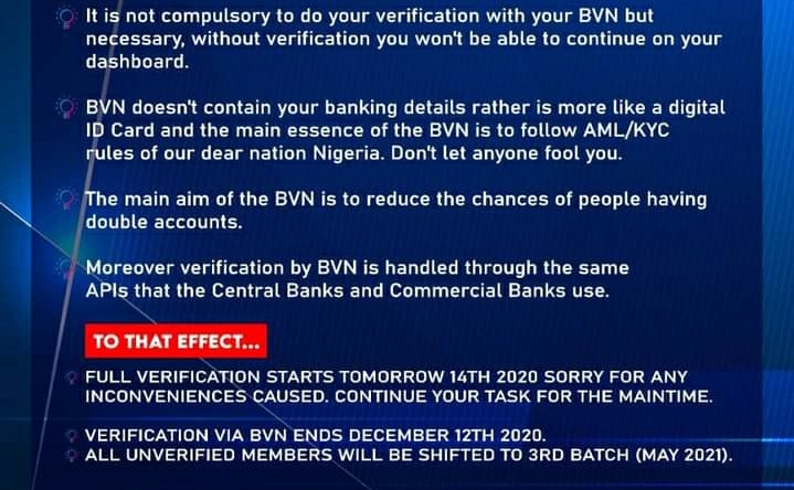 Breaking: Inksnation Announcement on BVN Verification - Important Information to members