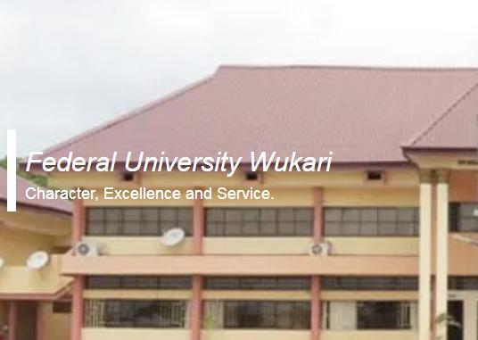 Federal University Wukari Post Graduate Application form 2020/2021