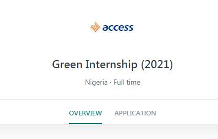 Access Bank Massive Recruitment 2021 - Green Internship