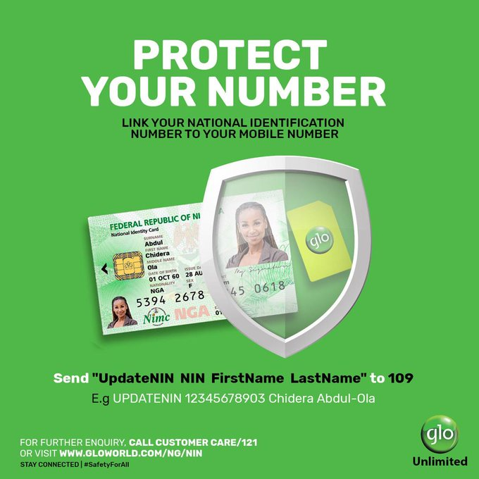 Glo NIN link Code: How to Link Your NIN Number with Glo Sim online