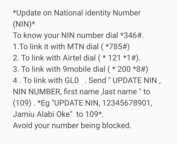 How to Check if your NIN has been Successfully Linked with Your Sim