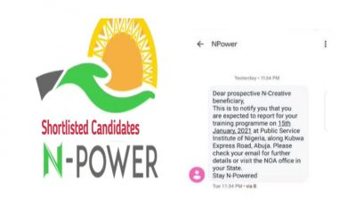 Breaking: Npower 2021 Begin Shortlist for Batch C, N-Creative