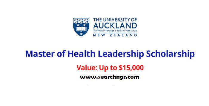 Master of Health Leadership – International Student Scholarships in New Zealand