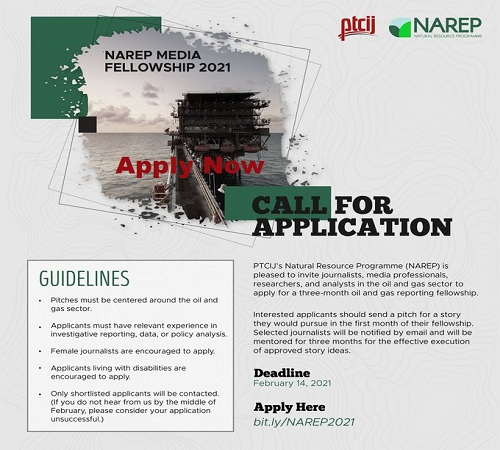 NAREP Oil and Gas Media Fellowship 2021 (Apply and get N100,000 monthly Stipend)