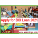 BOI Loan: Apply for BOI Manufacturing Loan 2021 (Get Up to 10 Million)