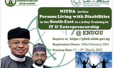 Enugu State Present IT Innovation & Entrepreneurship Scheme for the Disabilities (How to Apply)