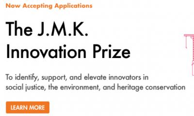 Apply for 2021 J.M.K. Innovation Prize, Get Up to $25,000 Cash Grant