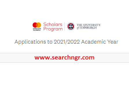 Mastercard Foundation Scholars Program 2021/2022 for Online Masters Study at the University of Edinburgh