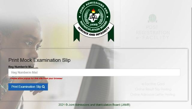 Update: Jamb Mock 2021 Commence. Print Out Mock Exam Centre. 1