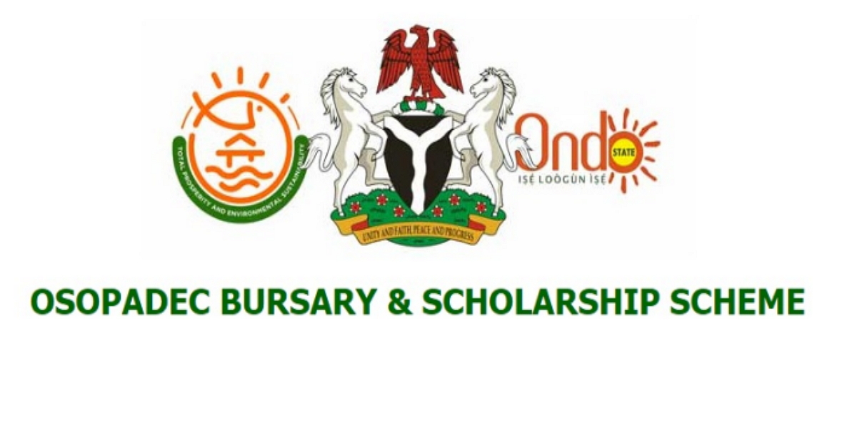 OSOPADEC Bursary and Scholarship Awards for Ondo State Indigenes Admitted in 2018/2019 Academic Session 1