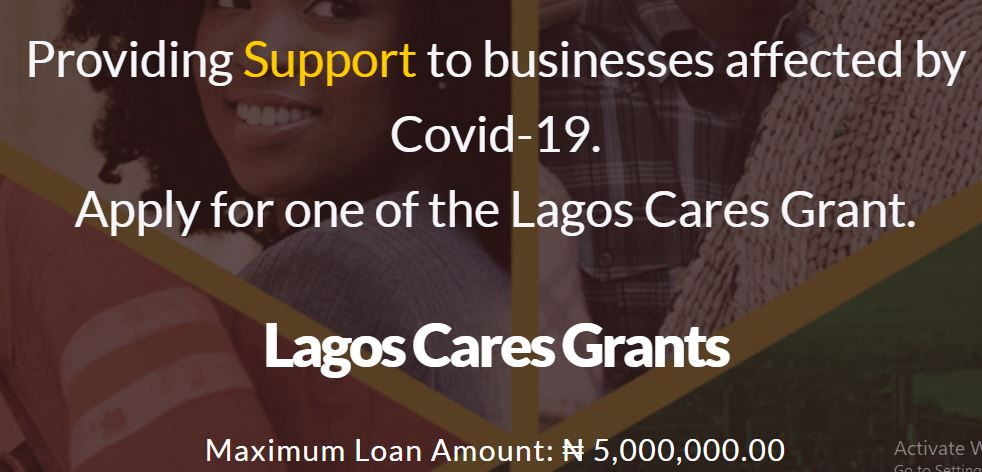 Lagos Cares Grant For MSMEs - Apply and Get Up to 5million Naira Loan