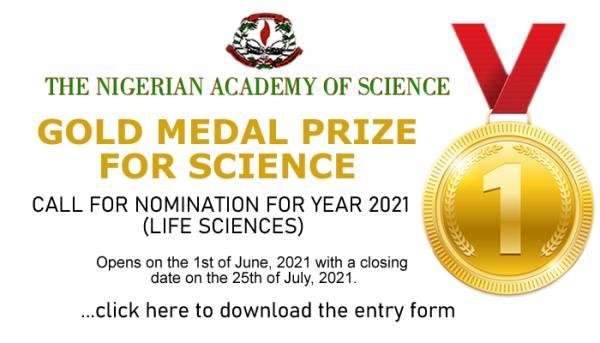 Nigerian Academy of Science (NAS) Medal Prize 2021 1