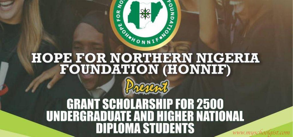 HONNIF Scholarship 2021/2022 for Undergraduate & HND Students 1