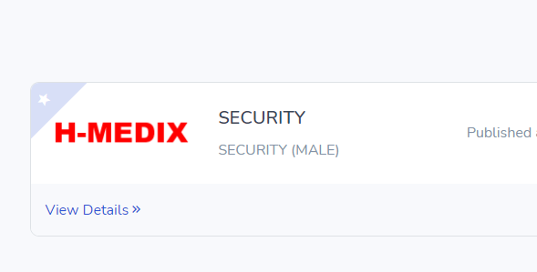 Apply for a Security Position at H-Medix official Website (SSCE)