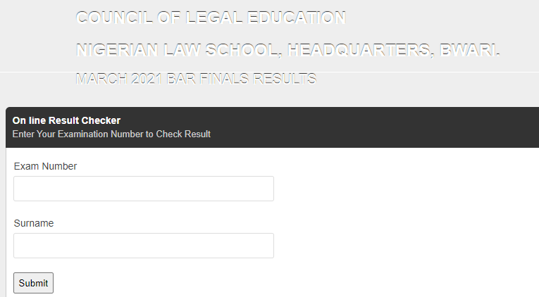 Nigerian Law School Result 2021 Officially Released, Step on How to Check