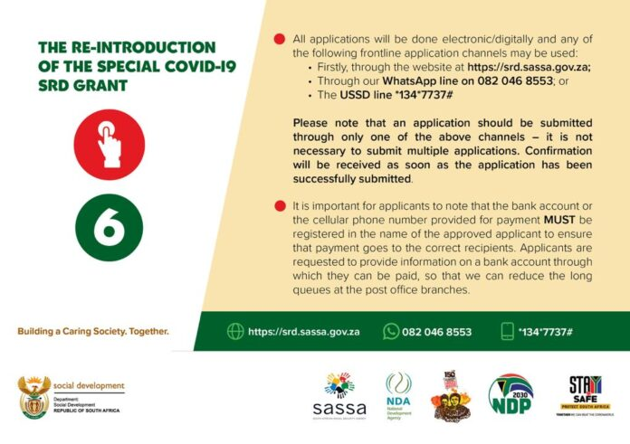 Special Covid 19 SRD Grant 2021 Application Procedures (www.srd.sassa.gov.za)