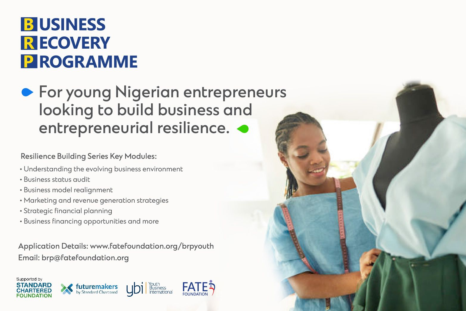 Apply for Business Recovery Programme (Youth) through FATE Foundation Application 2021 Grant