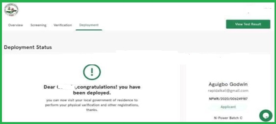 Npower Batch C 2021 Deployment Begins- How to Check and Accept