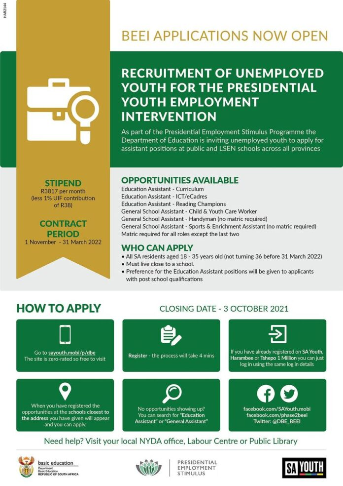 Apply for BEEI Recruitment 2021 for South Africans