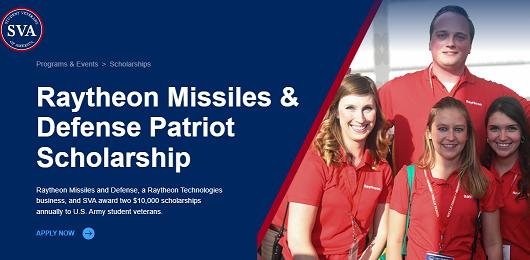 Raytheon Missiles and Defense Patriot Scholarship 2021